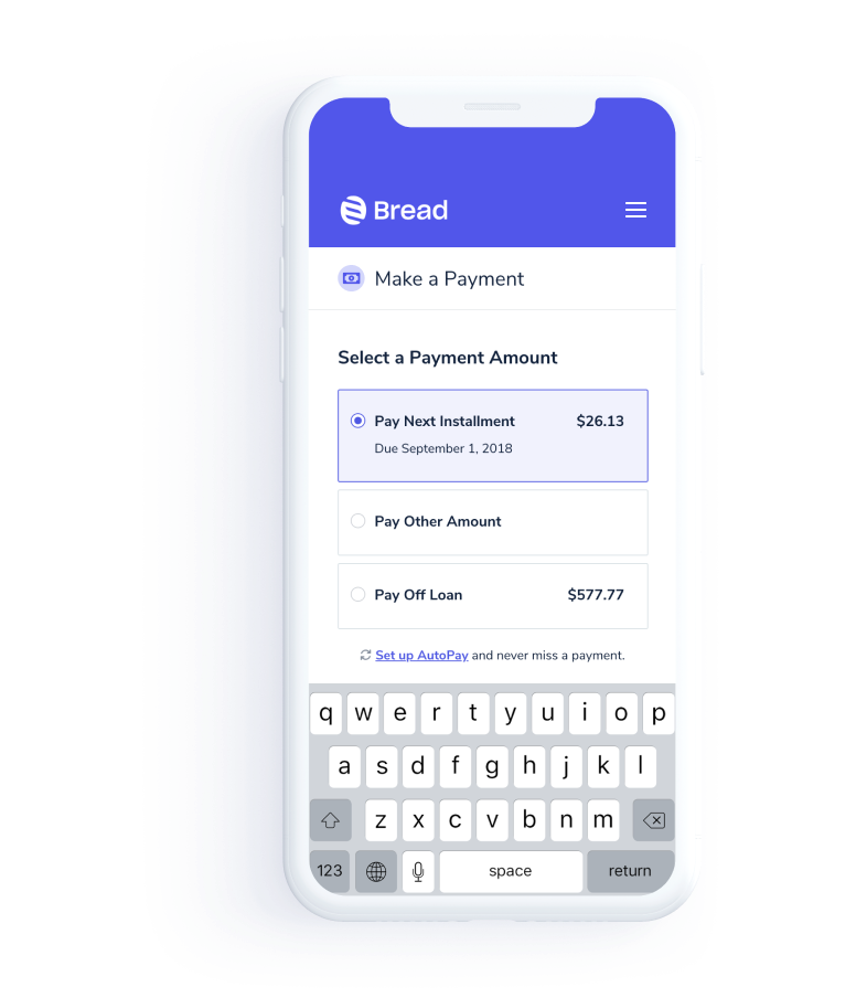Bread | Simple and transparent financing