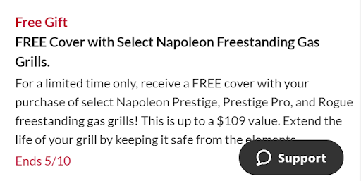 BBQ Guys Free Gift in Product Description