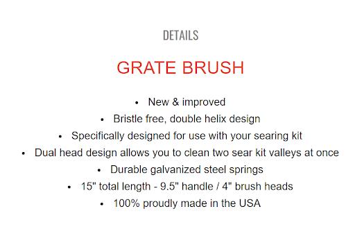 REC TEC Grate Brush Product Description